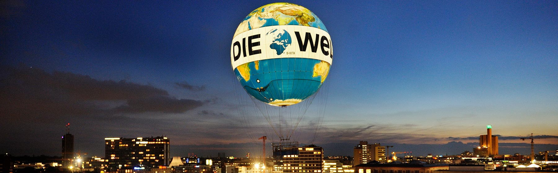 Ballon 'Welt' in Berlin